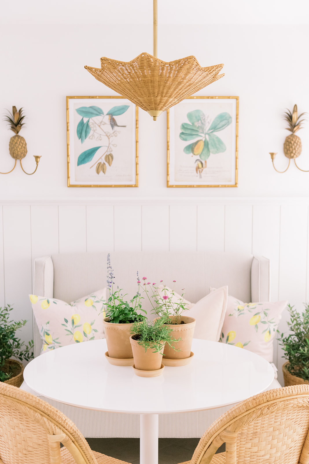 Home: Dining Nook with Palm Beach Lately