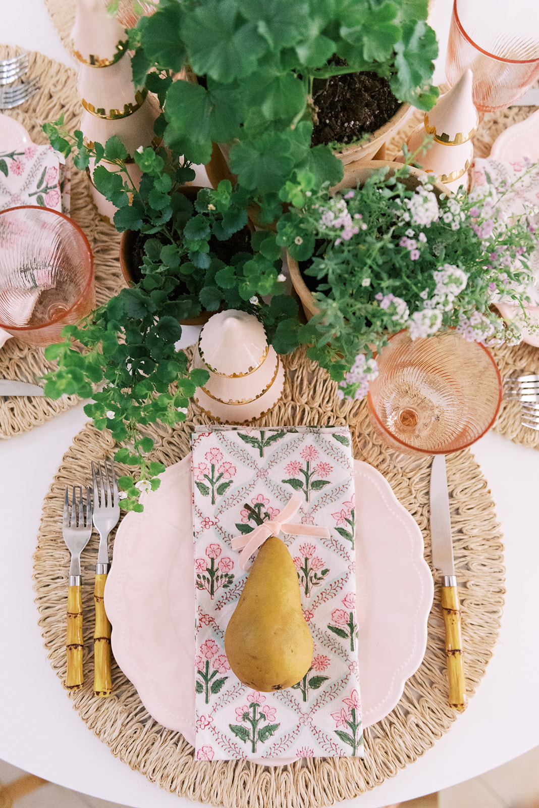 Holidays at Home: Tablescape with Palm Beach Lately