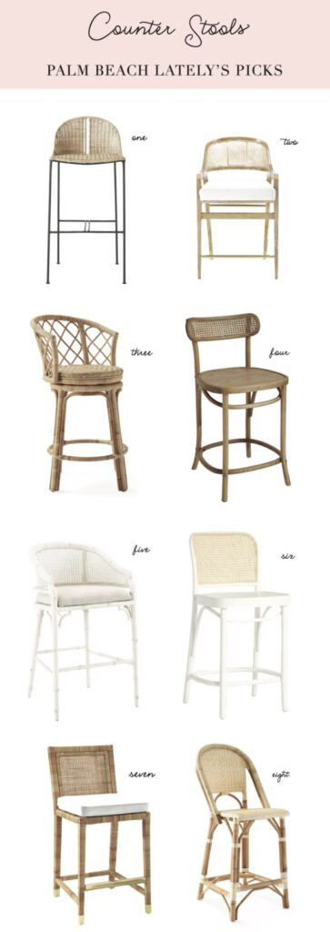 Palm Beach Lately Rattan and Cane Counter Stools