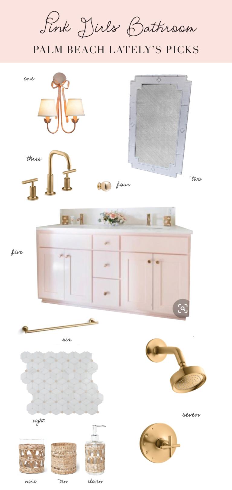 Home: Girls Pink Bathroom